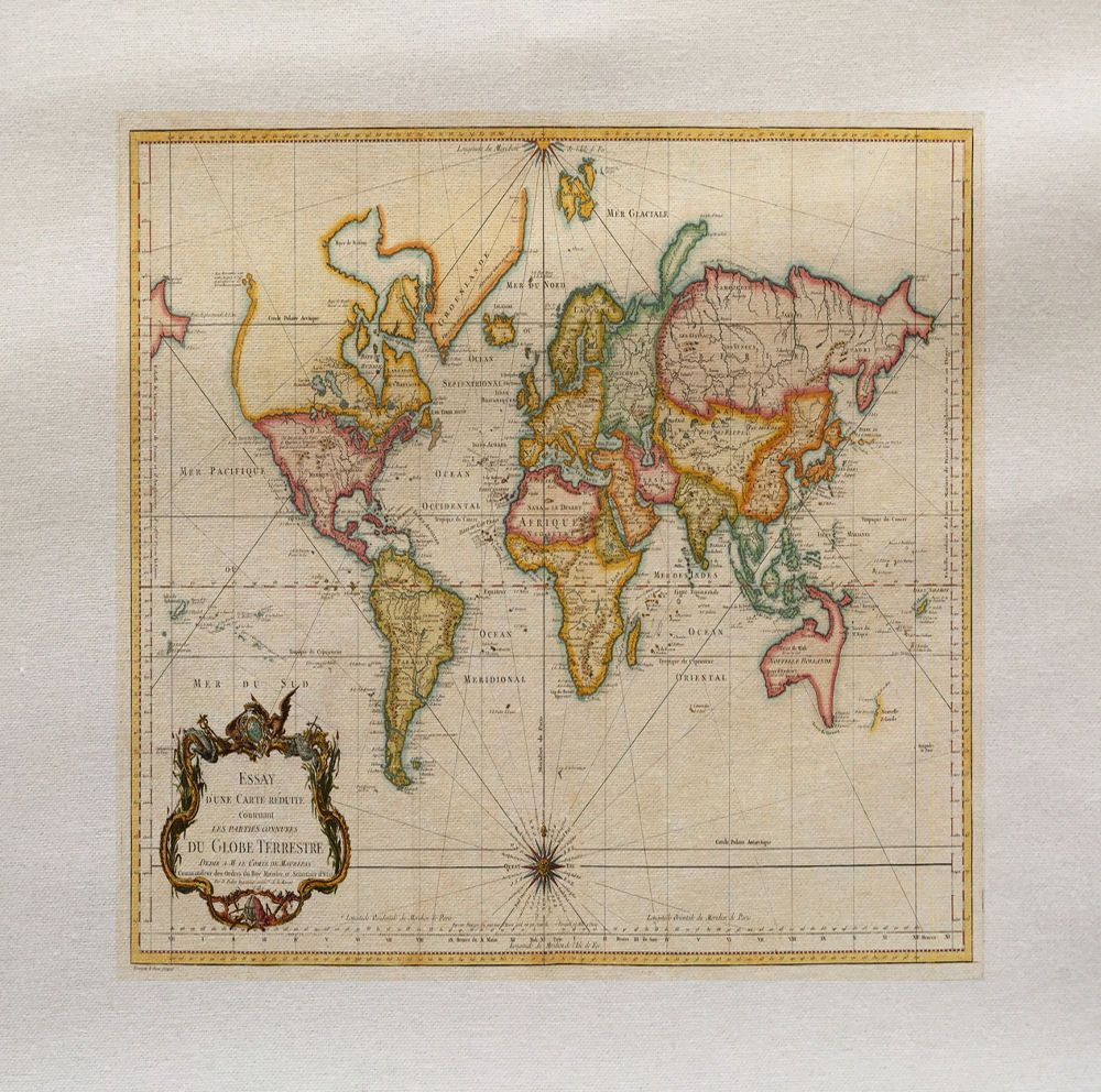 World colour Map Fabric Panel (1)